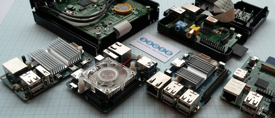 A selection of SBC systems we've used, including Odroid and Pi